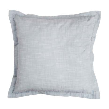 Blue Linen Look Cushion