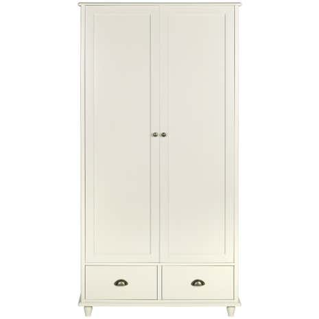 Portland Cream Double Wardrobe