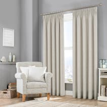 Grey Purity Lined Pencil Pleat Curtains