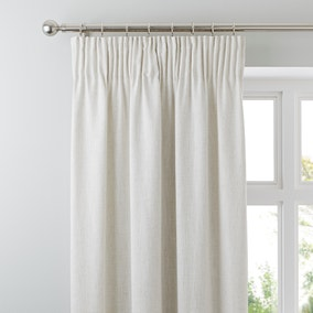 Purity Natural Lined Pencil Pleat Curtains