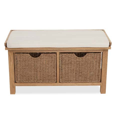 Sidmouth Oak Hallway Cushion Bench