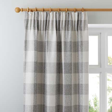 Skye Natural Lined Pencil Pleat Curtains