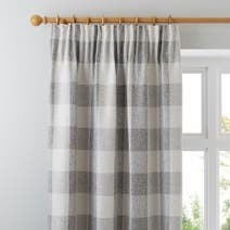 Natural Skye Lined Pencil Pleat Curtains
