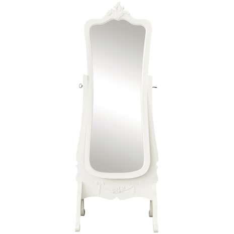 white full length mirror. Toulouse White Cheval Mirror. Loz_exclusive_to_dunelm Full Length Mirror