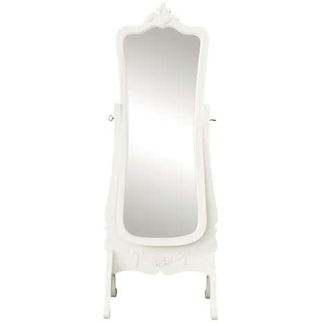 Toulouse White Cheval Mirror