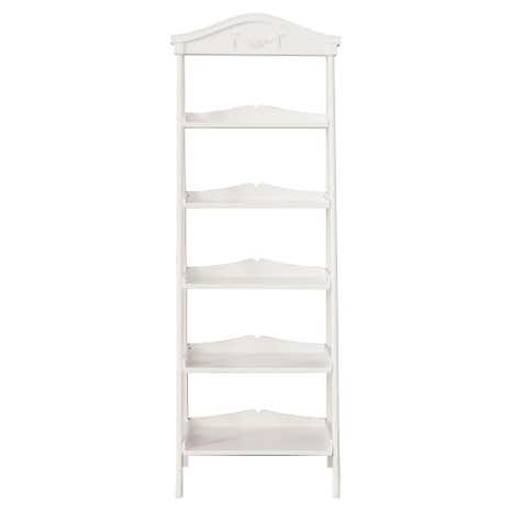Toulouse White Ladder Bookcase