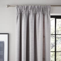 Grey Vermont Lined Pencil Pleat Curtains