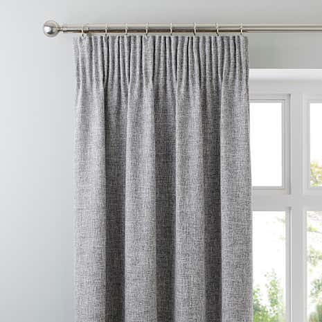 Vermont Monochrome Pencil Pleat Curtains