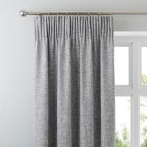 Monochrome Vermont Pencil Pleat Curtains