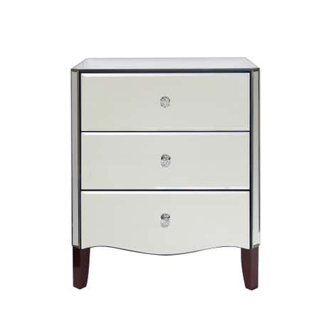 Viola Mirrored 3 Drawer Chest