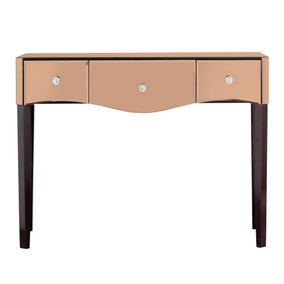Viola Rose Gold Mirrored Dressing Table