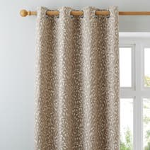 Cream Willow Lined Eyelet Curtains