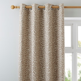 Willow Cream Lined Eyelet Curtains