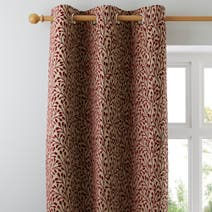 Red Willow Lined Eyelet Curtains