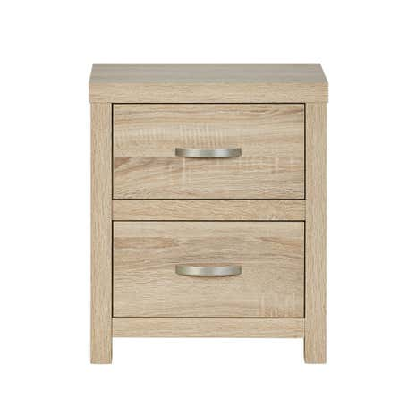 York 2 Drawer Bedside Table