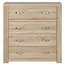York Oak Large 4 Drawer Chest