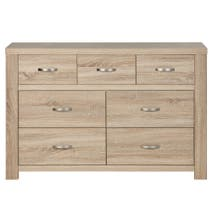 York Oak 7 Drawer Chest