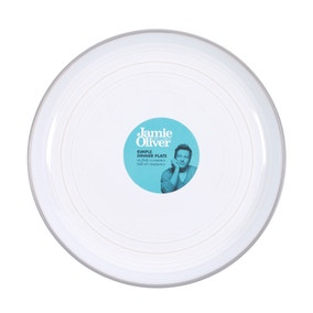 Jamie Oliver Grey Rimple Dinner Plate