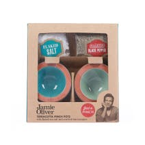 Jamie Oliver Terracotta Salt and Pepper Pinch Pots