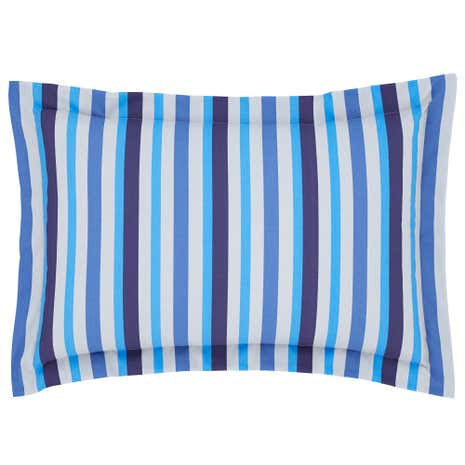 Ollie Blue Stripe Oxford Pillowcase