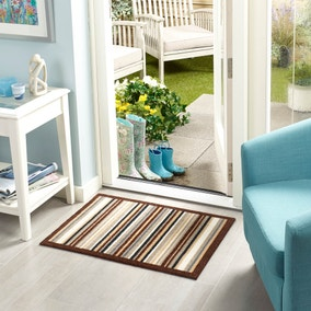 Marvel Natural Washable Striped Mat