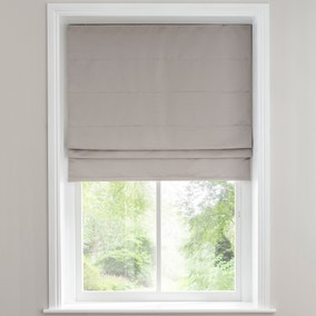 Hotel Venice Oyster Grey Blackout Roman Blind
