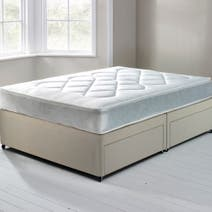 Essentials Open Coil Soft Platform Top Divan Set with 4 Drawers