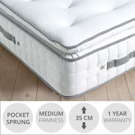 Hotel 2000 Memory Foam Pillow Top Mattress