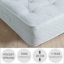 Zoned Damask Pocket Sprung Mattress