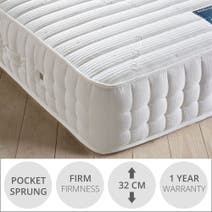 Hastings 1200 Pocket Spring Firm Mattress