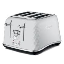 DeLonghi Brillante CTJ4003 White 4 Slice Toaster