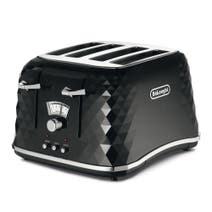 DeLonghi Brillante CTJ4003 Black 4 Slice Toaster