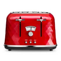 DeLonghi Brillante CTJ4003 Red 4 Slice Toaster