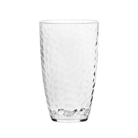 Hammered Clear Plastic Tumbler