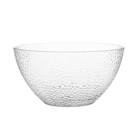 Hammered Plastic Clear Salad Bowl