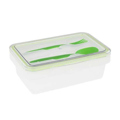 Tala Push & Push Rectangular Lunch Box Container With Cutlery