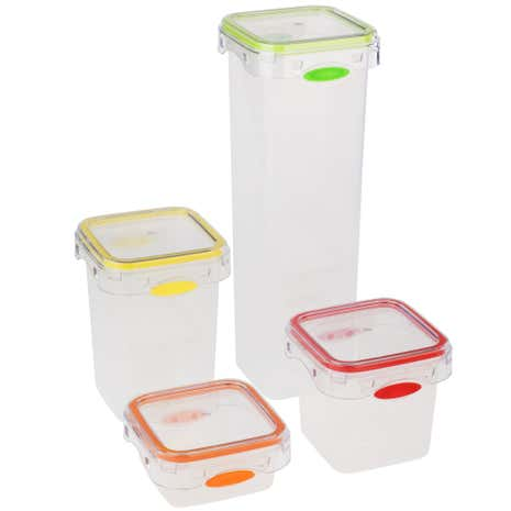 Tala Set of 4 Push & Push Storage Canisters