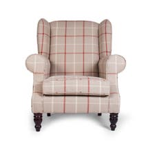 Chartwell Colorado Check Wing Back Armchair