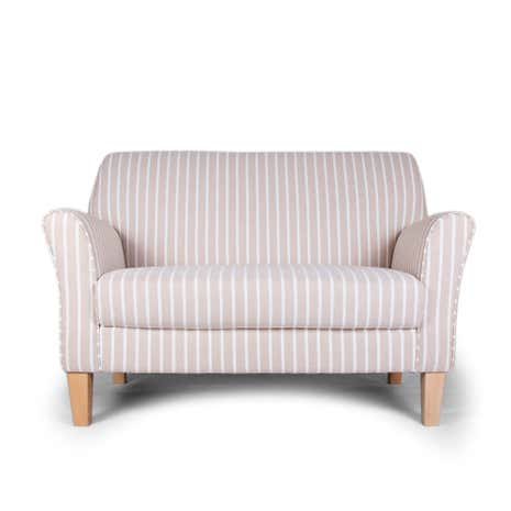 Hampton Stripe Natural Lucielle 2 Seater Chair