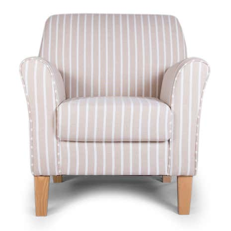 Lucielle Hampton Stripe Natural Armchair