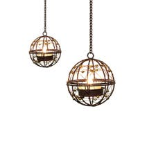 Set of 4 Hanging Jewel Dome Candles