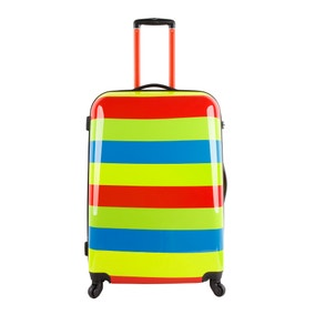 Striped 28 Inch Suitcase