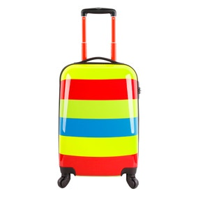 Striped 24 Inch Suitcase