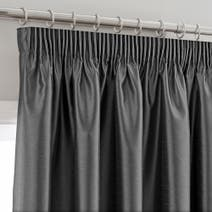 Charcoal Montana Lined Pencil Pleat Curtains