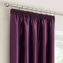 Plum Montana Lined Pencil Pleat Curtains
