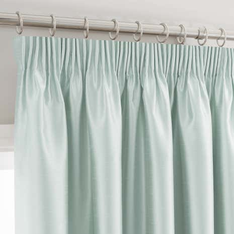 Montana Duck-Egg Lined Pencil Pleat Curtains