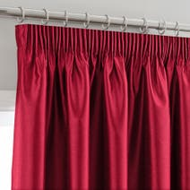 Montana Red Lined Pencil Pleat Curtains