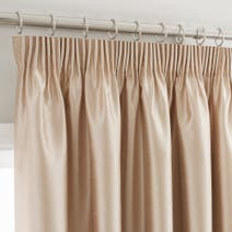 Gold Montana Lined Pencil Pleat Curtains