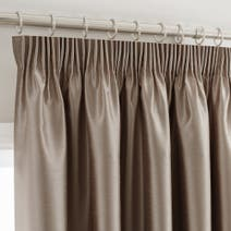 Mink Montana Lined Pencil Pleat Curtains