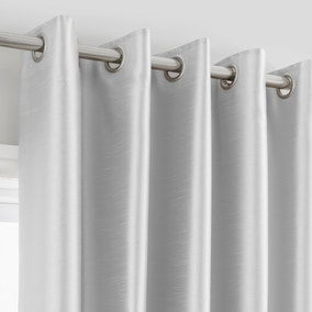 Montana Silver Lined Eyelet Curtains